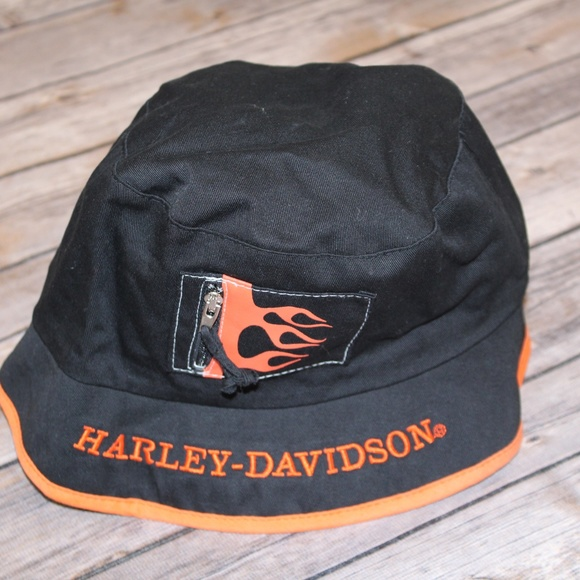 664361691c1a5 Harley-Davidson Other - Harley-Davidson Men s Bucket Hat Black Orange
